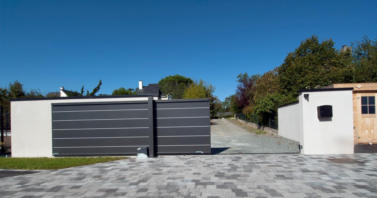 Portail coulissant aluminium - Slider Komilfo