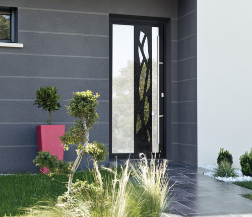 portes d entr e aluminium sur mesure moderne design classique komilfo. Black Bedroom Furniture Sets. Home Design Ideas