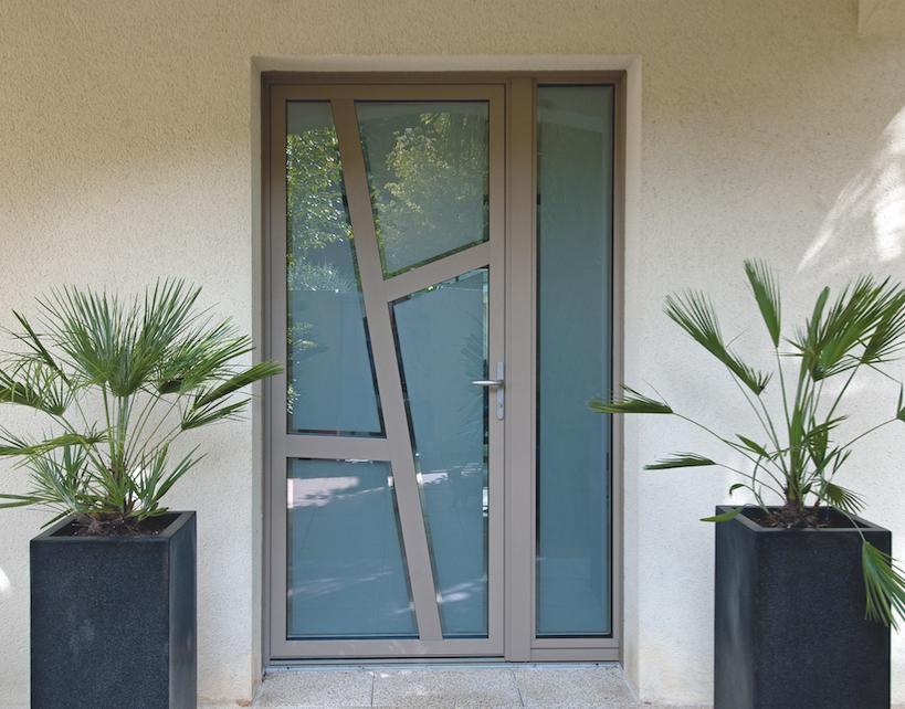 Portes Dentrée Contemporaines Surmesure PVC Bois Alu Acier Et - Porte d entrée contemporaine