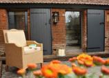 Rénovation extérieure avec de nouveaux volets battants près de Rennes par Komilfo Open