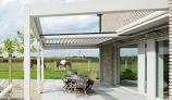 Installation de pergola bioclimatique à lames rétractables avec Ombres et Protections à Valenciennes