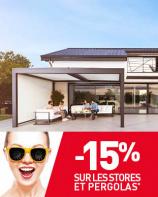 Profitez de votre terrasse avec -15% sur les stores et pergolas !