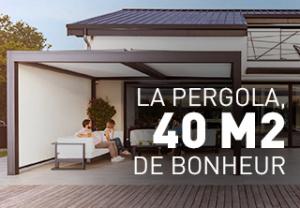 La pergola outdoor Komilfo, 40 m² de bonheur absolu !