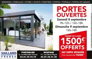 Journées portes ouvertes : visitez le hall d'expo de Saillard Frères, conseiller habitat à Morteau dans le Doubs (25)
