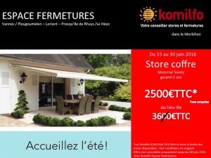 Offre store coffre juin 2016 - Komilfo Espace Fermetures