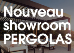 Nouveau showroom pergolas