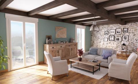 Porte-fenêtre lumineuse pour votre habitat intérieur - Komilfo