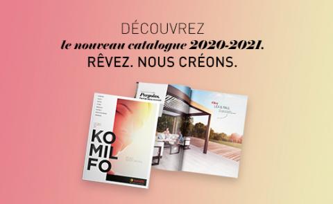 Nos carports et portes de garage à découvrir dans le catalogue Komilfo
