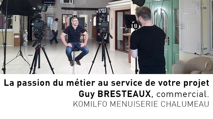 Portrait vidéo de Guy, conseiller commercial chez Menuiserie Chalumeau à Alençon (Orne)