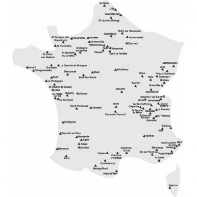 La carte de nos magasins en France - Komilfo