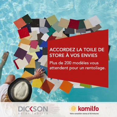 Votre artisan Komilfo, expert en rénovation de toiles de store