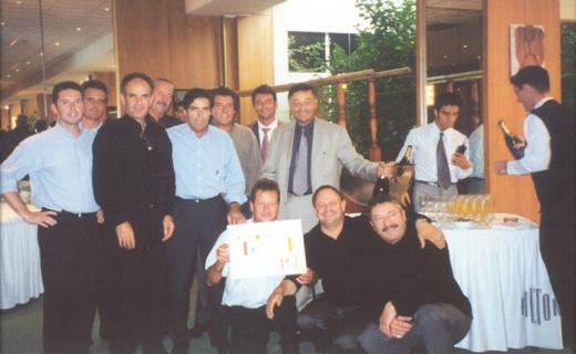 Les membres fondateurs du réseau Komilfo en 2002