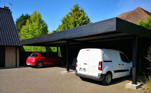 Le carbox double, équipement idéal pour garer vos véhicules Komilfo