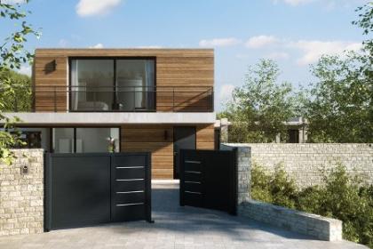 portails et cl tures design komilfo. Black Bedroom Furniture Sets. Home Design Ideas