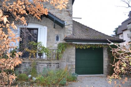 porte de garage sectionnelle traditionnelle électrique verte thonon gypass
