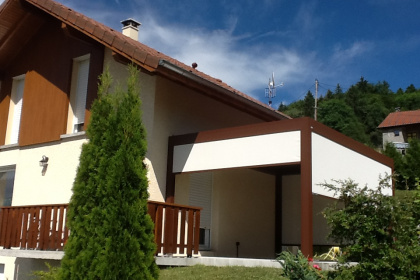 pergola à lames bioclimatique protection solaire brustor evian
