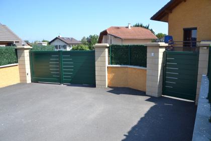 portail et portillon assortis aluminium thonon horizal