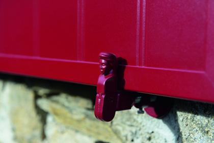 Arrêt bergère personnalisé de couleur rouge