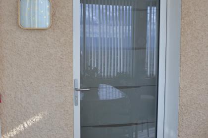 porte entree belm aluminium vitree blanche securite