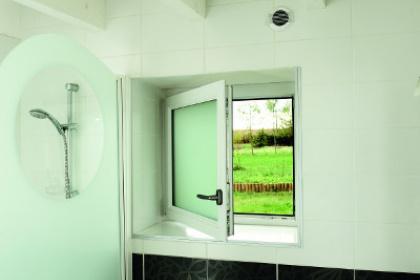 Fenêtre PVC avec verre dépoli posée en Loire-Atlantique (44)