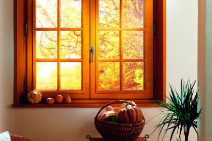 Fenêtre bois avec croisillons