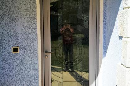 porte d'entrée aluminium vitrée 34