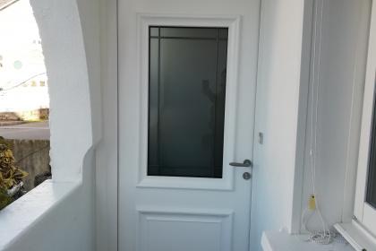 Porte d'entrée aluminium - Komilfo Somover Le Pouliguen (44)