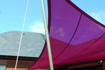 Voile d'ombrage fixe