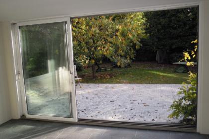 Baie vitrée coulissante mixte aluminium bois
