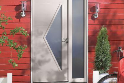 Porte d'entrée acier blanc Komilfo