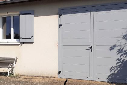 fenêtre PVC blanc volet battant porte de garage battante aluminium gris le mans