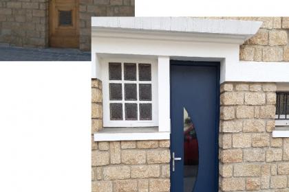 Porte d'entrée en PVC à Rennes installée par Komilfo Open