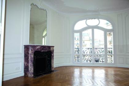 Fenêtre en bois forme cintrée