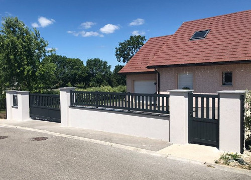 Portail maison et cloture ventana blog - Portail maison moderne ...