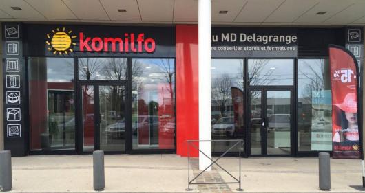 Façade du magasin Alu MD Delagrange à Castelnau-le-Lez, adhérent Komilfo près de Montpellier