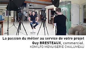Portrait vidéo de Guy, commercial chez Menuiserie Chalumeau à Alençon (Orne)