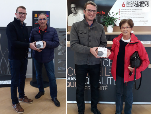 Félicitations aux gagnants du jeu concours avec Komilfo Open Rennes