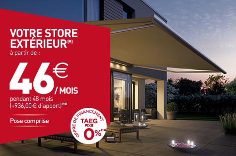 Store extérieur Vannes - Komilfo Espace Fermetures