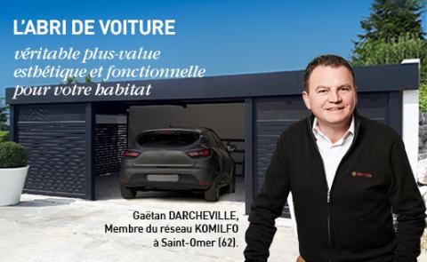 Abri de voiture carport aluminium - Komilfo