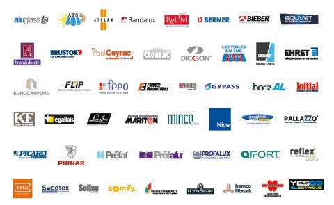Logos des fournisseurs partenaires du réseau Komilfo