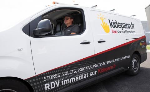 L'habillage du camion à la charte Kidepann.fr - Komilfo