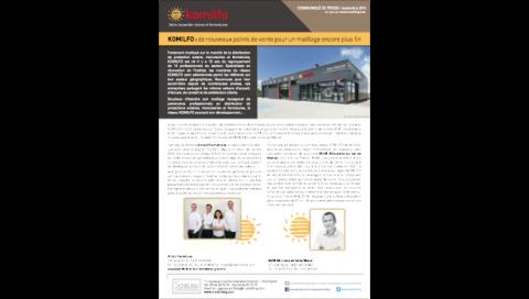 Communiqué de presse KOMILFO Septembre 2015