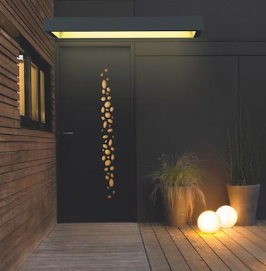 Porte d'entrée aluminium marquise lumineuse