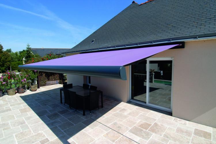 Store banne coffre B38 Brustor toile violette