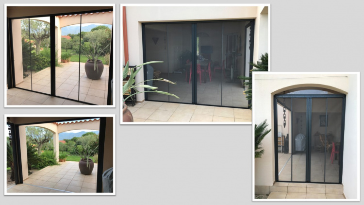 Moustiquaire Insectidoor 2 vantaux coloris gris anthracite