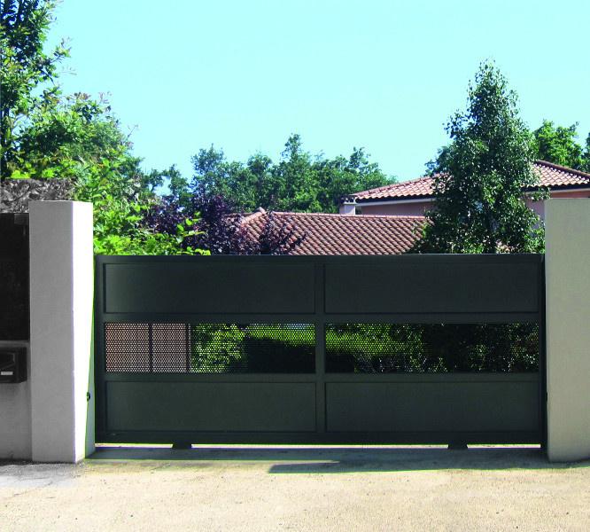 Portail design gris