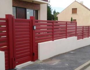 Ensemble portail et portillon en aluminium
