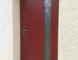 porte d'entrée aluminium argeles sur mer komilfo  66 perpignan
