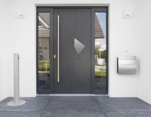 Porte d'entrée aluminium monobloc Komilfo