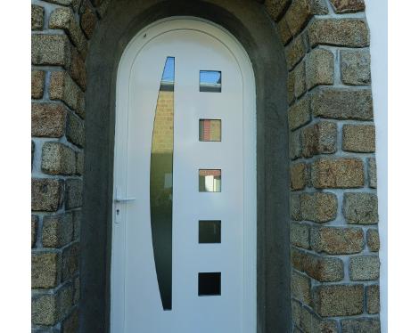 Porte d'entrée contemporaine PVC